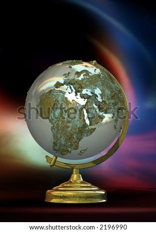 3d world globe - stock photo