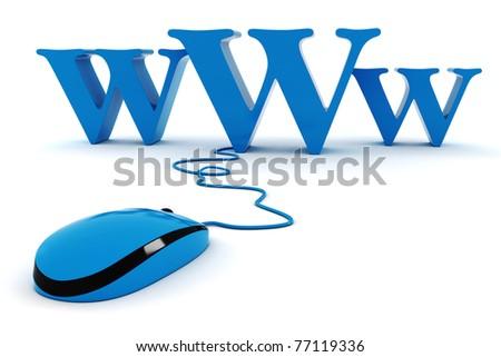 3d world wide web concept - stock photo