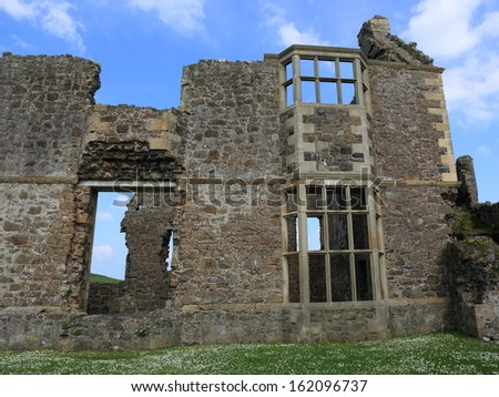 damaged castle in Belfast, North Ireland - stock photo