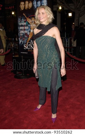 "16DEC99: Actress CAMERON DIAZ at the world premiere, in Los Angeles, of her new movie Oliver Stone's ""Any Given Sunday"" in which she stars with Al Pacino.  Paul Smith / Featureflash - stock photo"