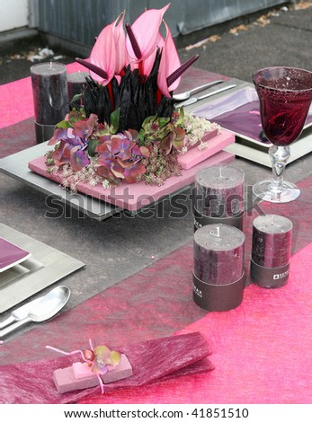"""decor-table-pink-modern"" - stock photo"