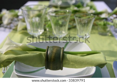 """decoration-table-green"" - stock photo"
