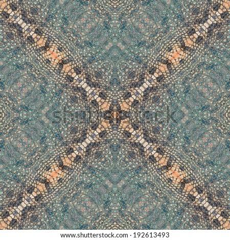 decorative design pattern, crocodile skin texture. - stock photo
