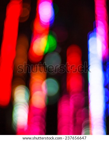 Defocused ligths of Christmas tree, Festive Christmas elegant abstract background - stock photo
