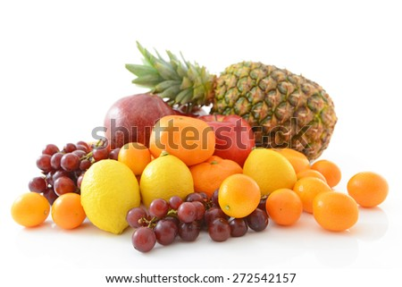 ?delicious and fresh variety fruits - stock photo