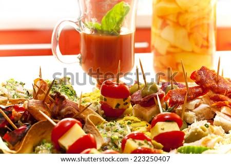 delicious appetizer - stock photo
