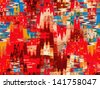 Digital structure of painting. Abstract art background - stock photo
