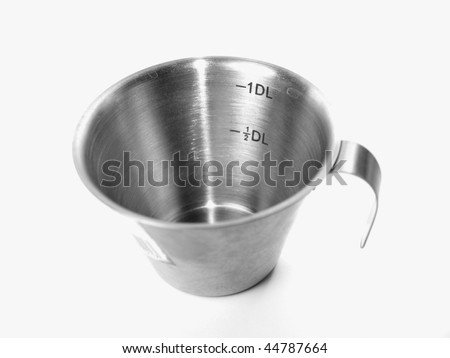 1 DL measurement cup for baking and cooking - stock photo