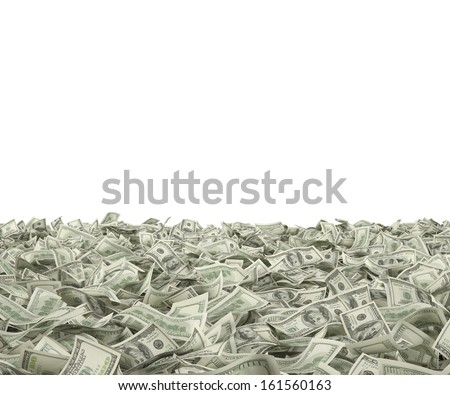 100 dollars on the ground - stock photo