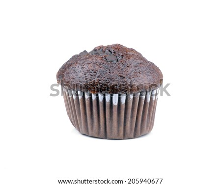 Double Chocolate Muffin  - stock photo