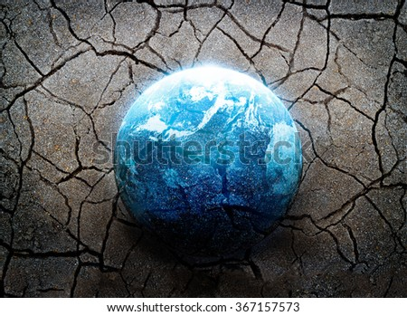 Earthquake, the most disaster of the world, Environment concept, Elements of this image furnished by NASA - stock photo