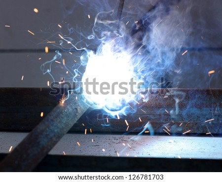 electric arc and sparks - stock photo