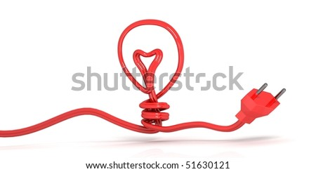 Electricity and lighting concept illustration - stock photo