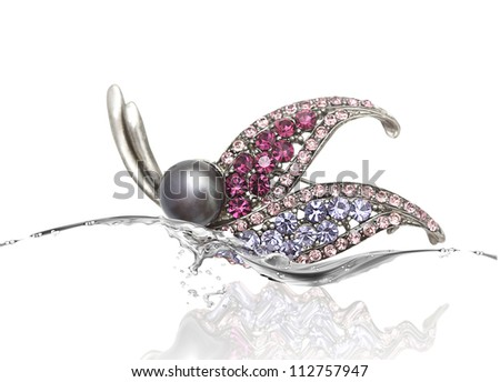 Elegant hairpin - stock photo