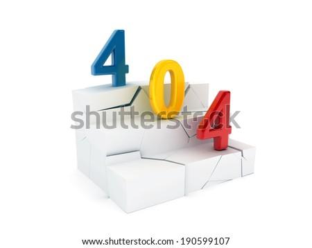 404 Error - stock photo
