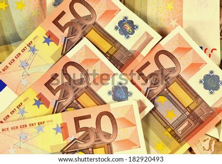 50 Euro banknotes  - stock photo