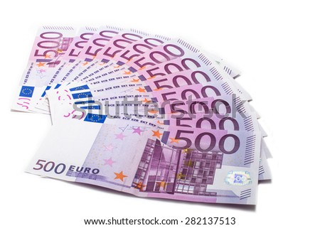 500 euro banknotes - stock photo