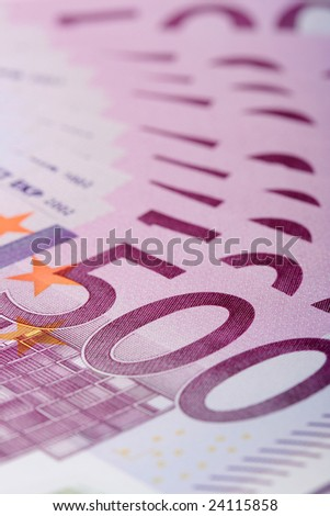 500 euro banknotes, can be used as a background - stock photo