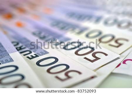 500 Euro money banknotes - stock photo