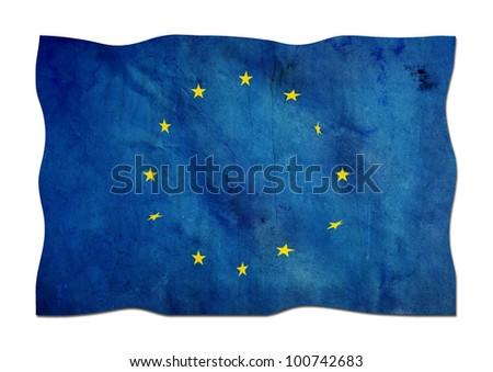 European Union Flag made of Paper - stock photo