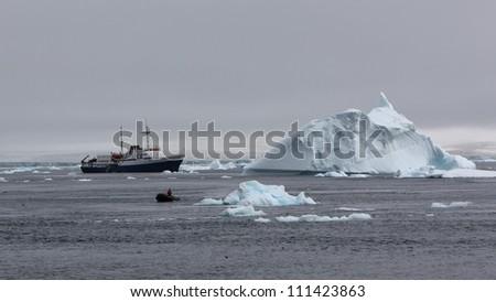 Exploring Antarctica - stock photo