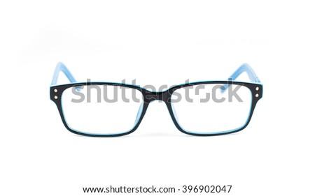 eye glasses isolated on white background - stock photo