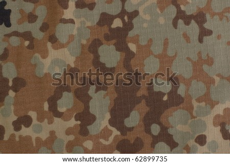 fall camouflage fabric - stock photo