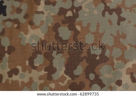 fall camouflage fabric - stock photo