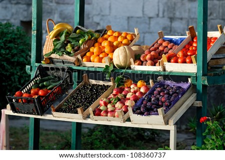 Farmers market - stock photo