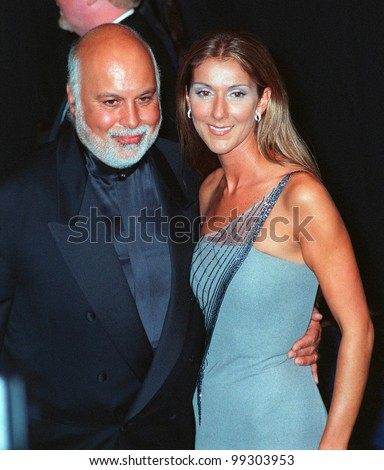 24FEB99: Singer CELINE DION & husband RENE at the 41st Annual Grammy Awards in Los Angeles.  Paul Smith / Featureflash - stock photo