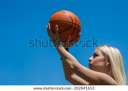 female basketball player - stock photo