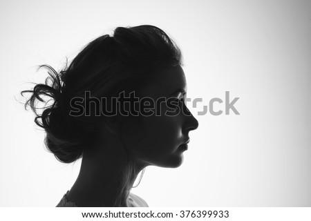 Female silhouette - stock photo