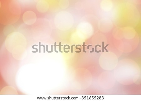 Festive blur background. Abstract twinkled bright background with bokeh defocused golden  and pink lights - stock photo