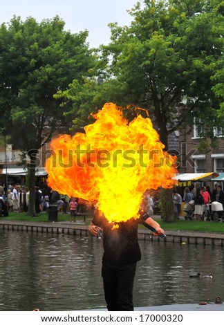 fire-eater - stock photo