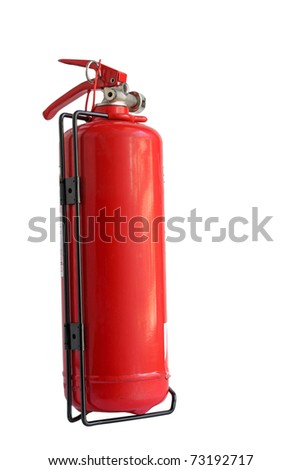 fire extinguisher on white - stock photo