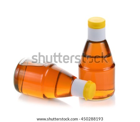 fish sauce isolated on white - stock photo