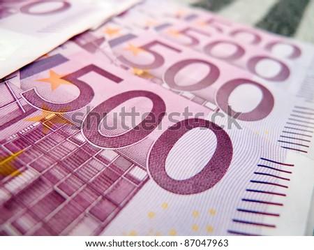 500 five hundred euro notes - stock photo