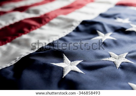 Flag of The USA  - stock photo
