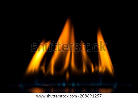 flame of gas burner - stock photo