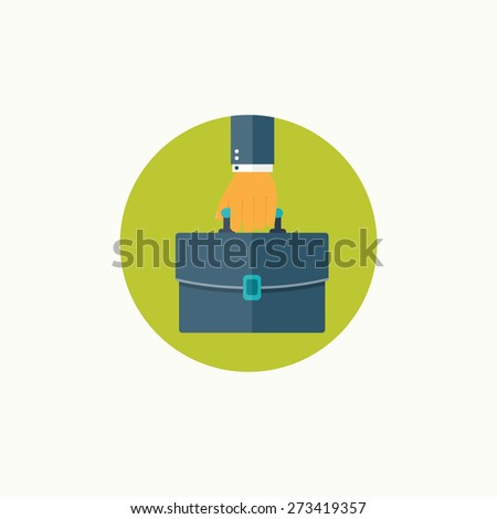 Flat business background. Management and administrative planning. - stock photo