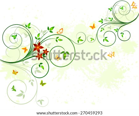 Floral background design - stock photo
