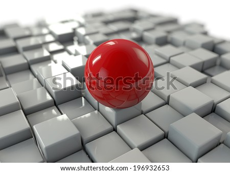 Focused leadership concept in business - stock photo