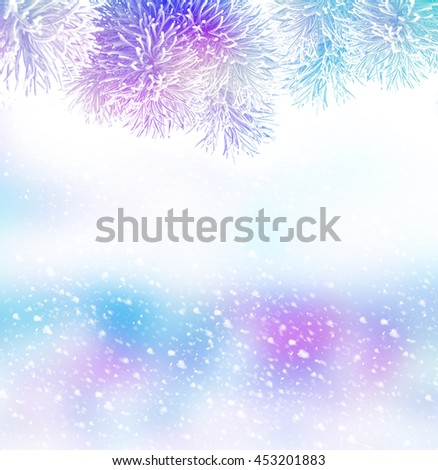forest. Winter landscape. Snow covered trees - stock photo