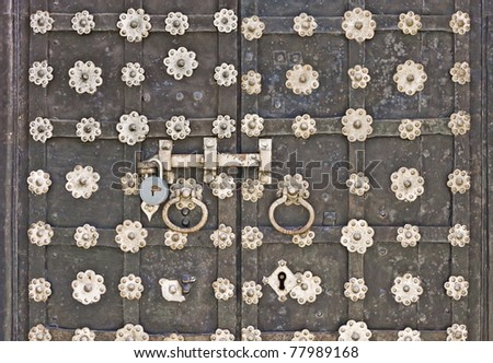 forged gate - stock photo