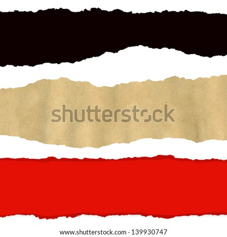 3 Fragmentary Paper - stock photo