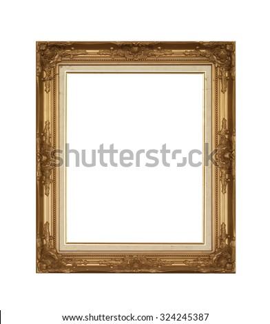 Frame isolated on white background. - stock photo