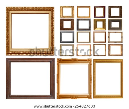 frame on the white background - stock photo