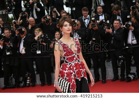 Frederique Bel attends the 'Cafe Society' premiere and the Opening Night Gala during the 69th Cannes Film Festival at the Palais des Festivals on May 11, 2016 in Cannes, France. - stock photo