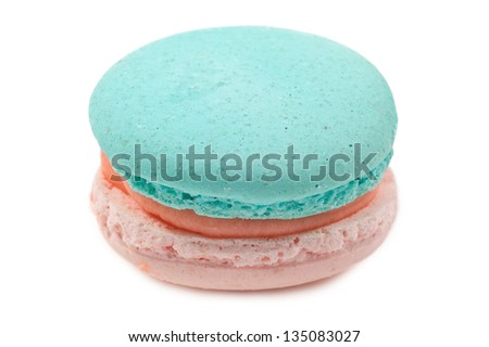 french macaron on white background - stock photo