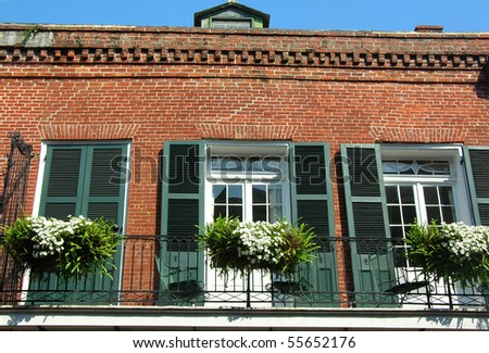 French Quarter Residence block 1 - stock photo